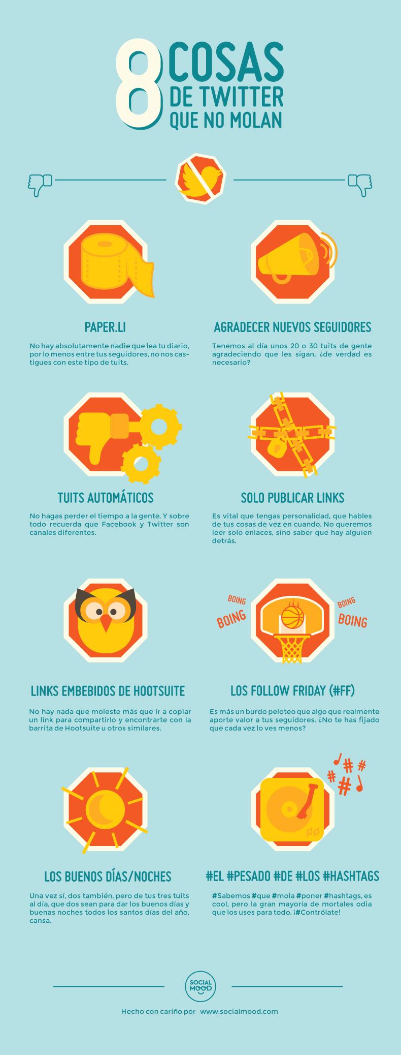 8 cosas que no deberías de hacer en Twitter